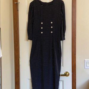 Pretty black dress with white polka dots